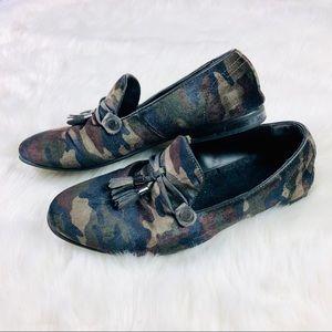ALDO Women's Camo Print McCrery Loafer Flats 7.5